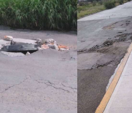 El reporte es que varias calles están deterioradas
