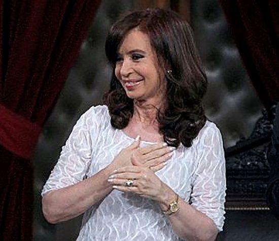 Fotografía de archivo de la expresidenta argentina Cristina Fernández