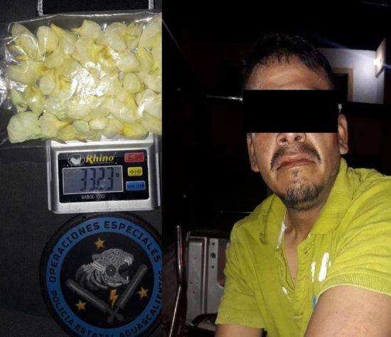 Capturan a tamaulipeco que vendía droga en tierras hidrocálidas