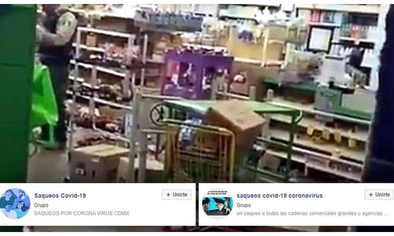 Según las autoridades los saqueadores se organizan a través de redes sociales.