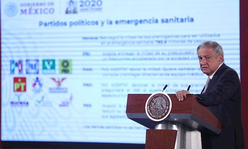 El presidente de México, Andrés Manuel López Obrador, ofrece una conferencia de prensa matutina este miércoles.