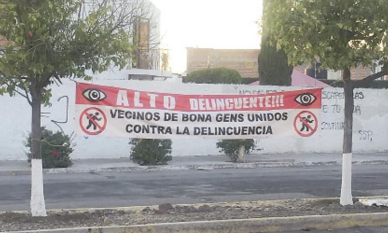 Vecinos de Bona Gens unen fuerzas a falta de mayor seguridad por parte de las autoridades.