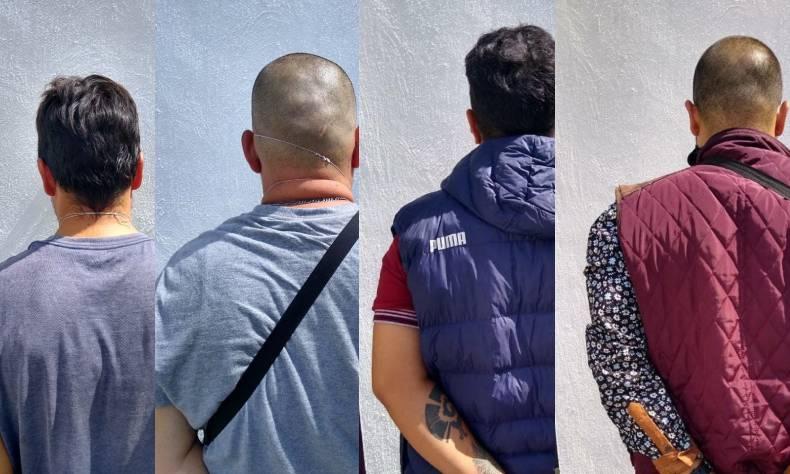 Aguascalientes.- La Policía Municipal de Aguascalientes logró la detención de 4 malandros, quienes son señalados por privar de su libertad a 2 personas y mantenerlas retenidas en el domicilio de una de ellas, posesión de marihuana, y varias credenciales de elector. Los hechos ocurrieron el pasado 20 de junio de 2020 a las 8:30 de la mañana, cuando uniformados realizaban su tradicional recorrido en el cruce de avenida Convención de 1914 y calle Jardines Eternos en el fraccionamiento Panorama, y fueron interceptados por Eduardo de 41 años, quien les solicitó ayuda ya que acababa escapar de su domicilio, donde se encontraban cuatro personas que lo habían golpeado y lo tenían privado de su libertad al igual que a otra persona. Dichos sujetos llegaron al domicilio del afectado bajo la intensión de cometer un robo, por lo que lo maniataron al igual que a otro sujeto, los golpearon y no les permitían salir del domicilio, pero cuando tuvo una oportunidad, logró escapar. Ya en el momento en el que las autoridades llegaron al domicilio, descubrieron a 4 personas que intentaban darse a la fuga a bordo de una camioneta Dodge Durango color azul y con placas de la Ciudad de México, motivo por el cual de inmediato los abordaron y detuvieron a Alejandro de Jesús de 20 años, Brayan de 31 años, Francisco de 28 años y Luis de 35 años de edad. Al revisar el interior de la unidad, localizaron marihuana, y 3 gramos de droga cristal, así como una báscula gramera, tarjetas de crédito y débito, varias credenciales del INE, una bicicleta, una maleta y una mochila. Los cuatro secuestradores fueron puestos a disposición de la Fiscalía General del Estado de Aguascalientes.