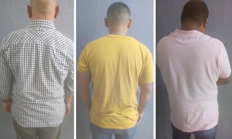 Los tres sujetos fueron detenidos cuando intentaban darse a la fuga.