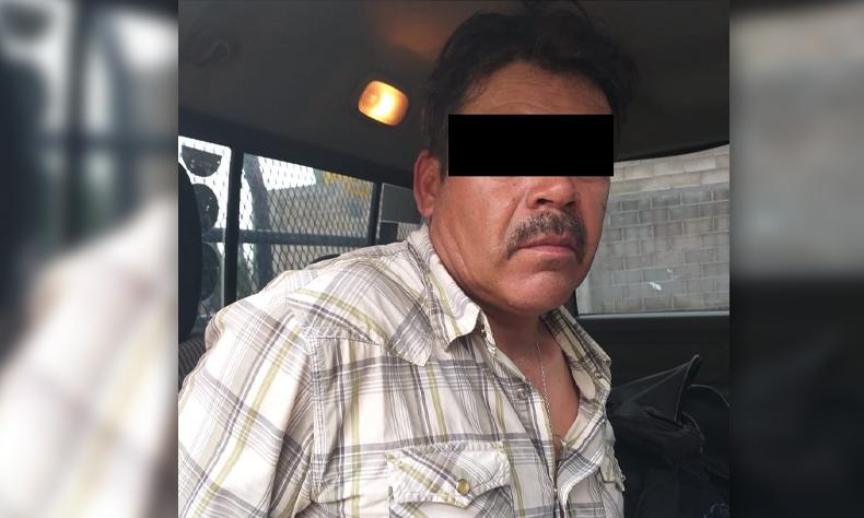 El degenerado sujeto fue detenido por atentados al pudor en contra de una menor de edad.