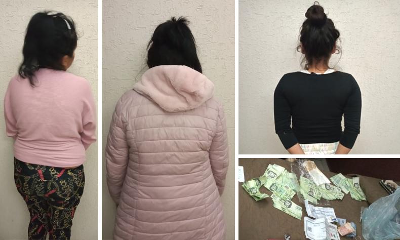 Más de 62 mil pesos en billetes falsos traían el trío de mujeres.