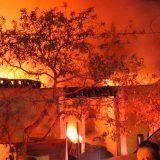 El fatal incendio se registró en Las Huertas.