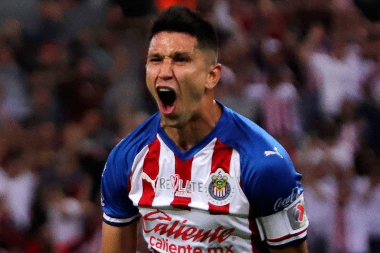 El jugador de las Chivas, Jesús Molina