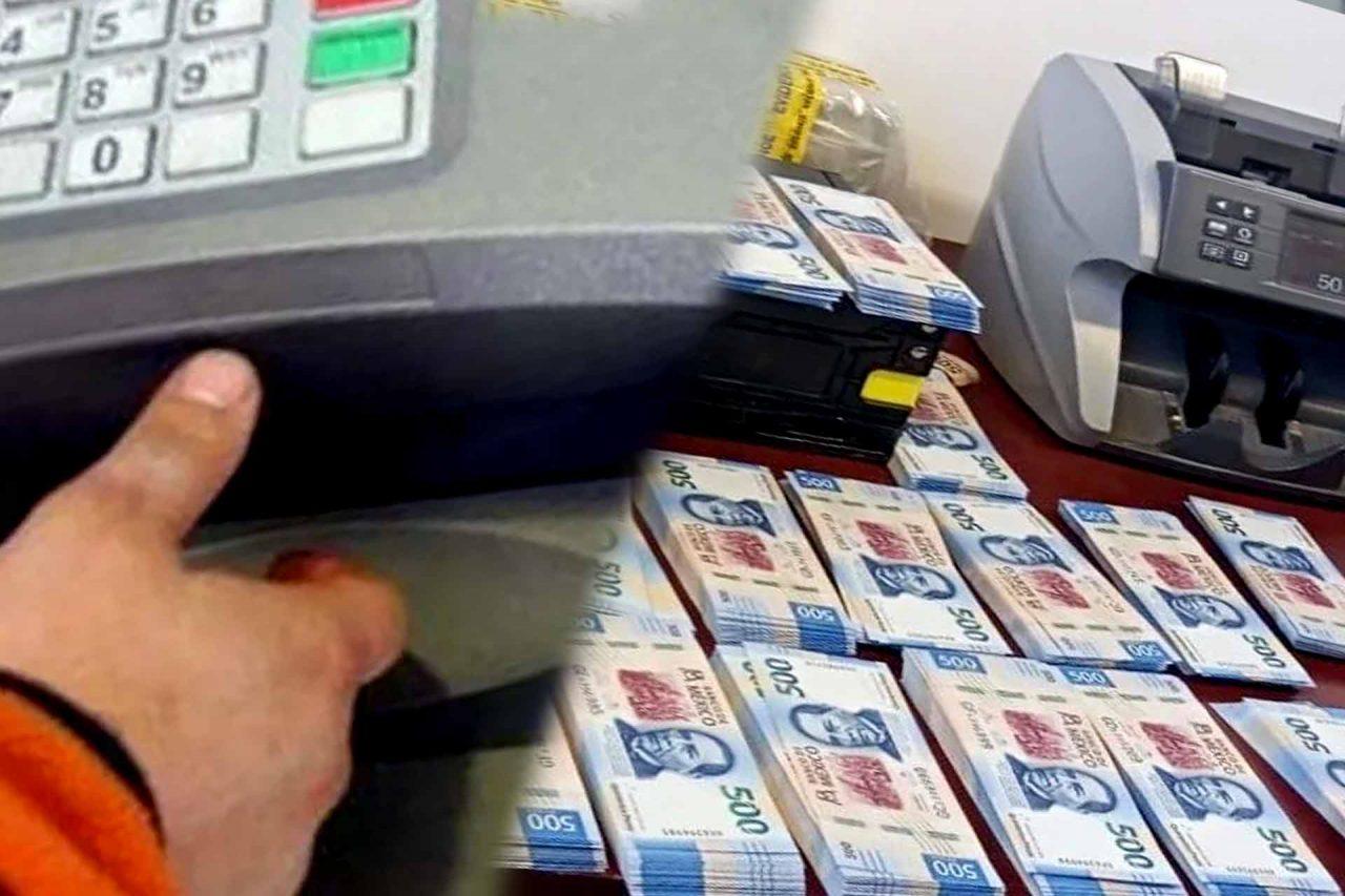Dinero recuperado del robo al cajero automático